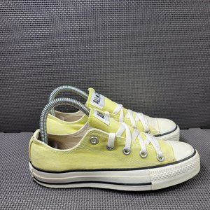 Womens Sz 6 Yellow Converse Low Top Sneakers